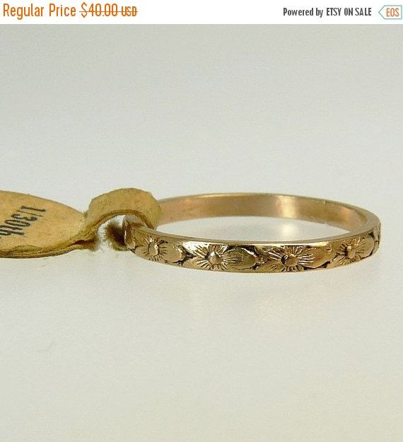 Antique Gold Filled Baby Ring For Me Not Size 2 5 by jujubee1