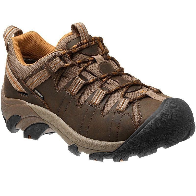 New Keen Mens Targhee II Low Leather Waterproof Athletic Hiking Trail Shoes  13 KEEN