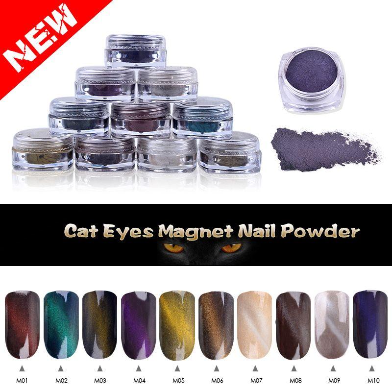 Unique 1g/box Perfect Cat Eye Effect Magic Mirror Powder UV Gel ...