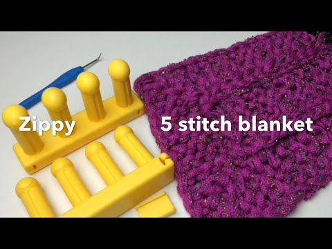 Zippy 5 Stitch Blanket Loom Along Youtube Loom Knits Pinterest