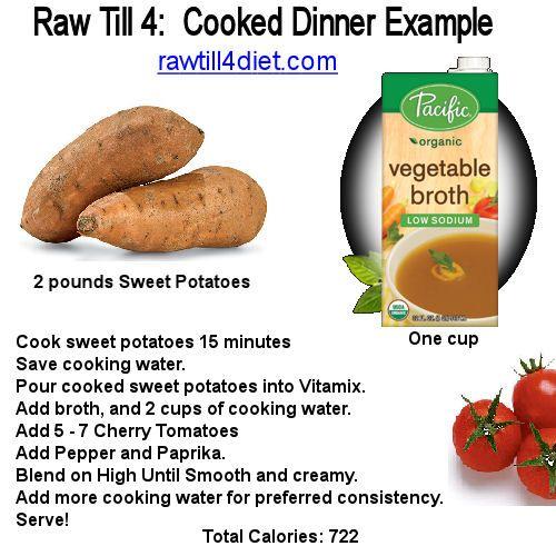 raw vegan diet sweet potatoes