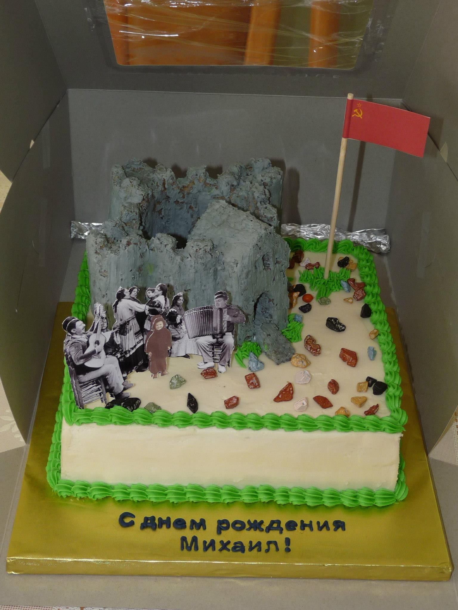 Birthday Cake With Russian Happy Birthday In Candy Melts My Sweet