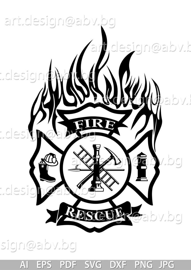 Vector FIRE RESCUE, AI, eps, pdf, png, svg, dxf, jpg