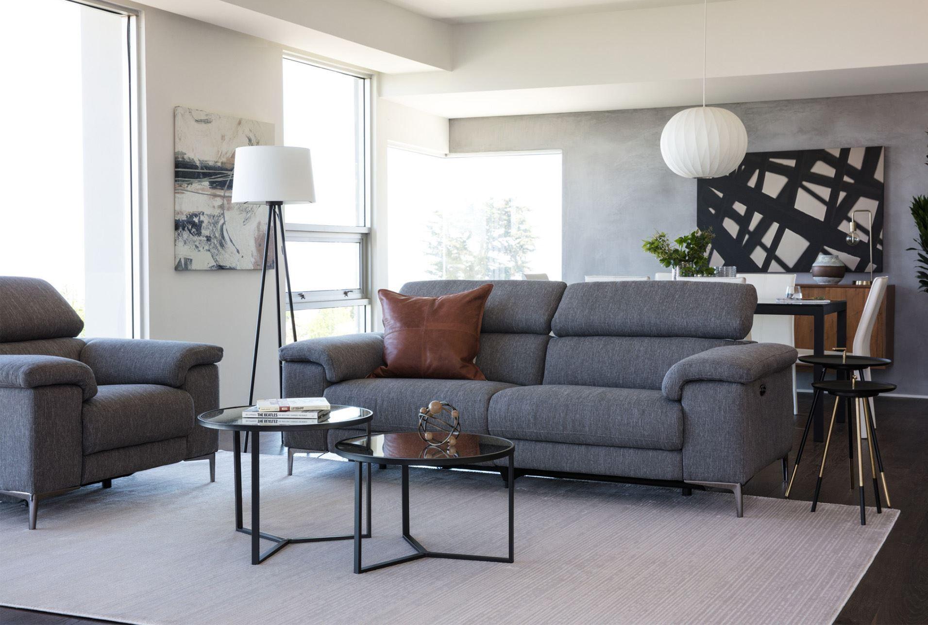 Talin Grey Power Reclining Sofa W Usb In 2020 Reclining Sofa Living Room Power Reclining Sofa Grey Sofa Living Room