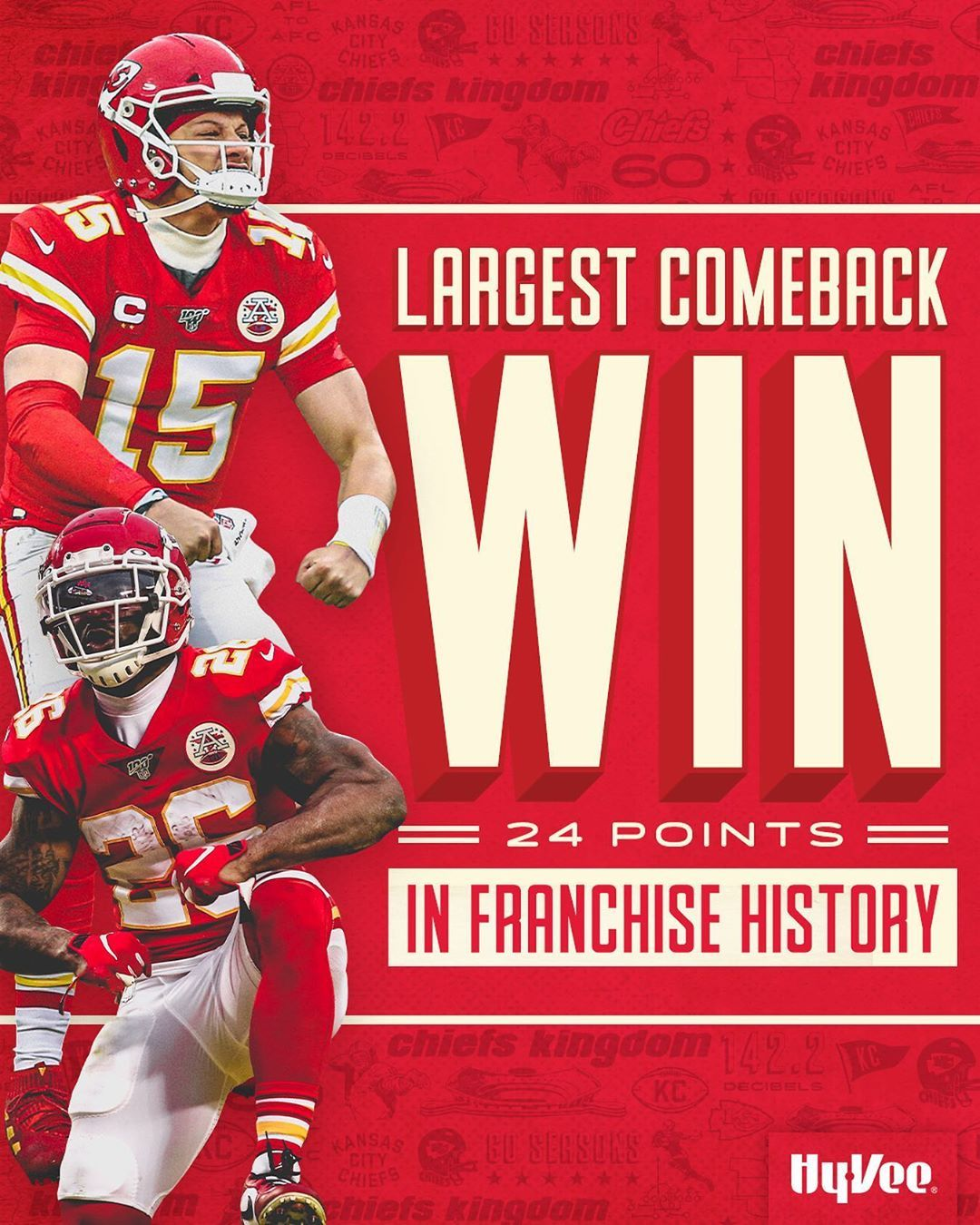 Kansas City Chiefs On Instagram First Team In Nfl Postseason History To Win A Game By 20 Or More P In 2020 Kansas City Chiefs Football Kansas City Chiefs Kansas City