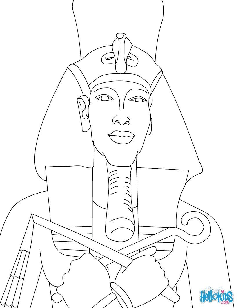 Egyptian coloring pages | PHARAOH coloring pages - PHARAOH AKHENATEN ...