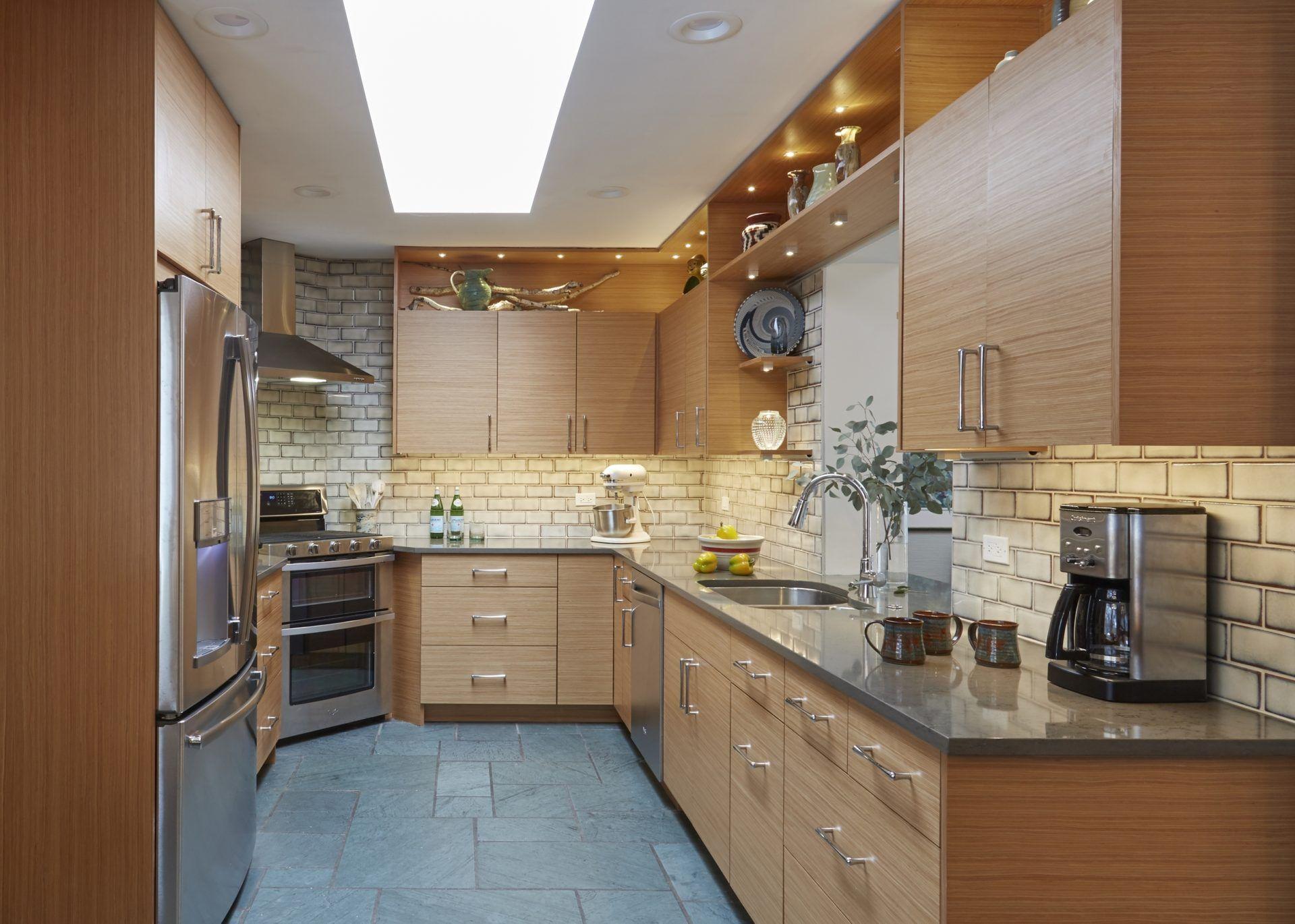 Best Midcentury Modern Kitchen Even Galley Kitchens Can Look 400 x 300