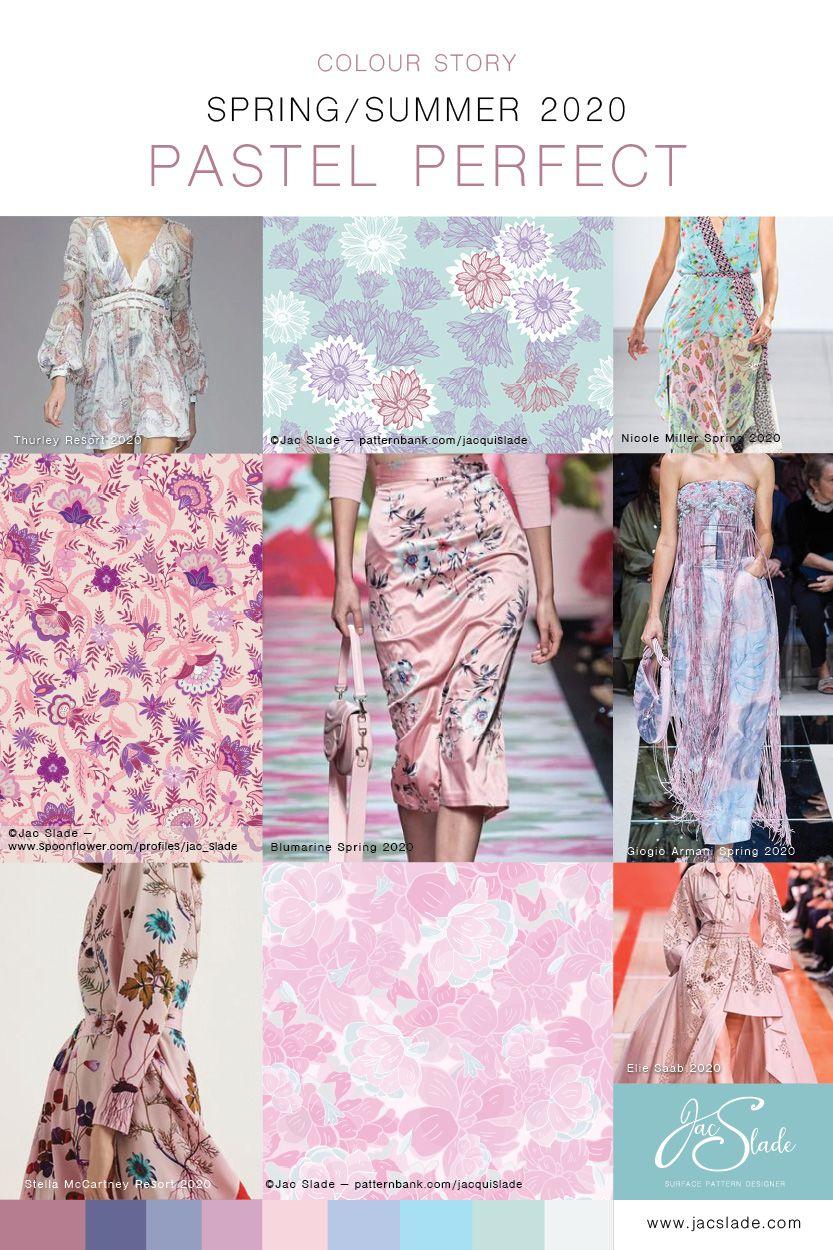 Pastel Perfect 2020 Colour Trends - Jac Slade #surfacepatterndesign