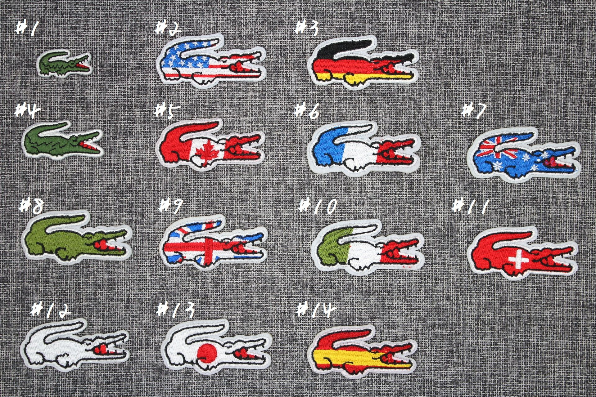 Wholesale Retail Lacoste Iron On Patch Lacoste Patch Lacoste Classic Patch Lacoste Logo Patch Lacoste Croco Classic Patches Embroidery Logo Luxury Brand Logo