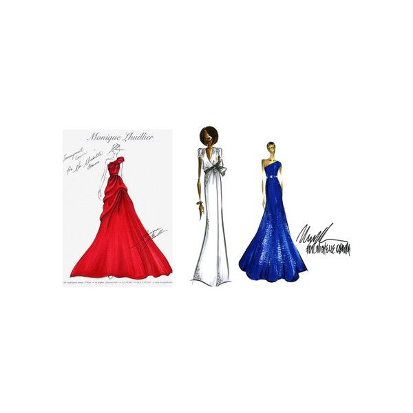 Michelle obama inauguration dress sketches pictures