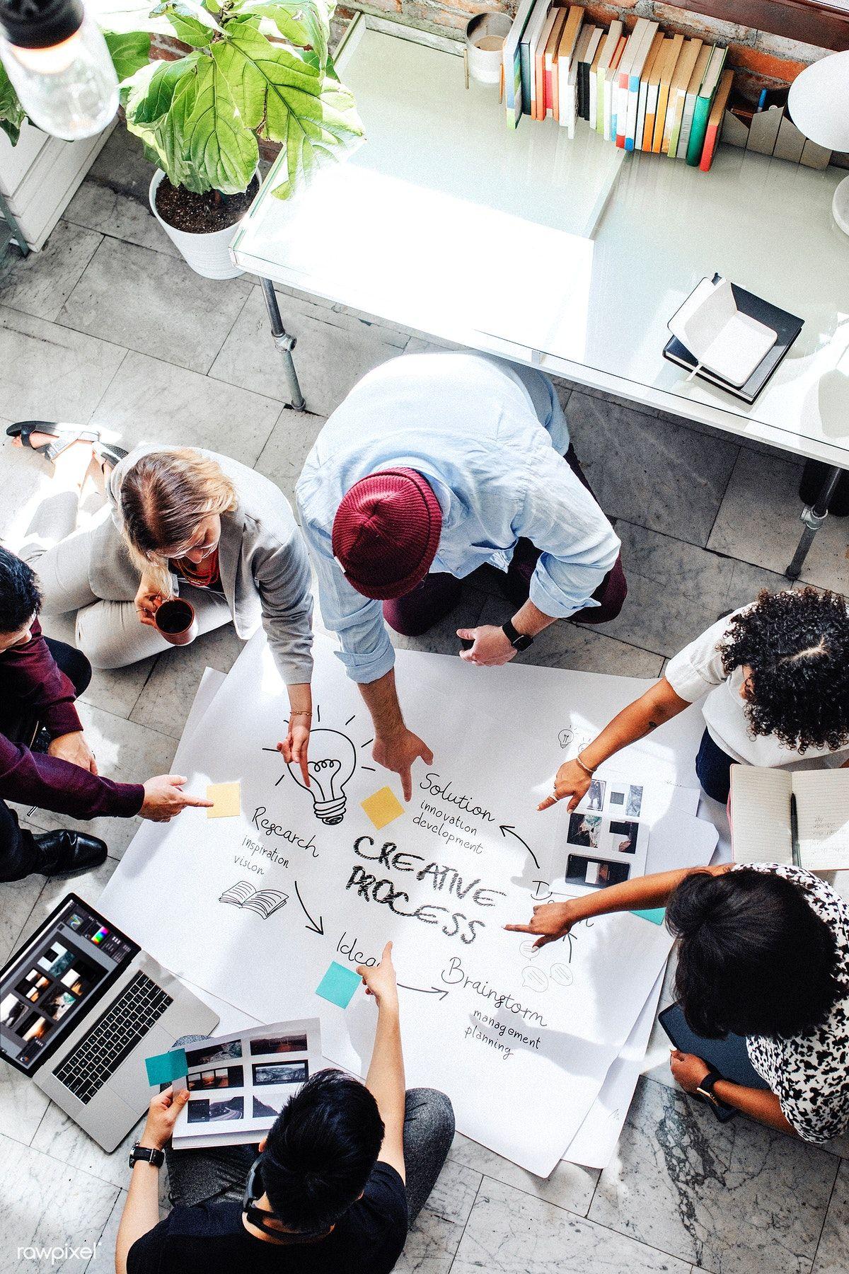 Download Premium Image Of Business People Brainstorming Management