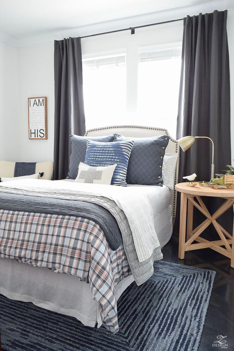 Boy\'s Boho Chic Bedroom Reveal + Tips for Layering Any Bed   Boho ...