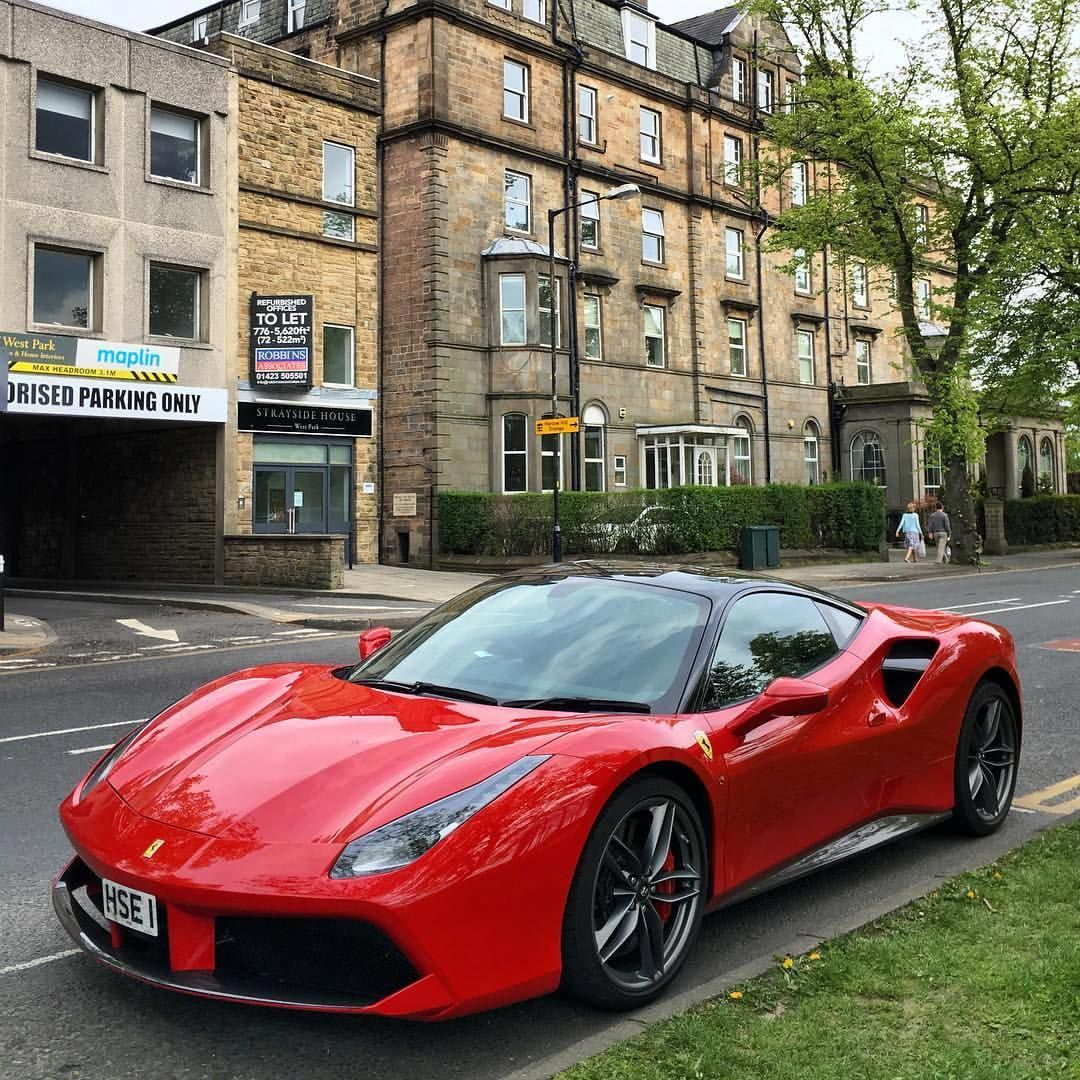 488 Red with the black roof.Boss ferrari488gtb
