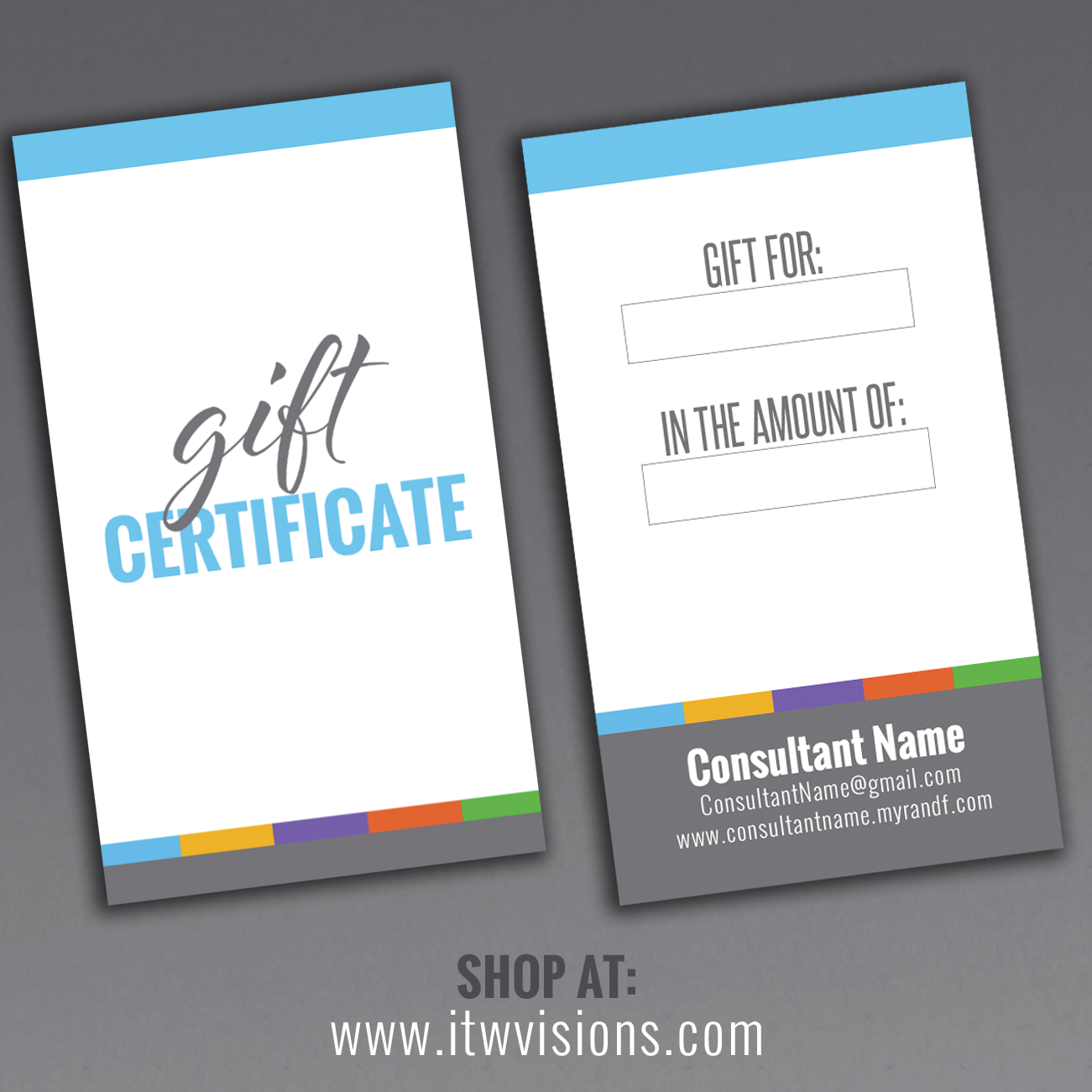 Gift Certificate - double-sided card | Gift certificates ...