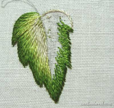 Long And Short Stitch Shading Lesson 7 More Complex Leaf