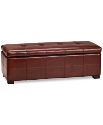 Ballston Leather Tufted Storage Bench, Direct Ships for just $9.95 ...