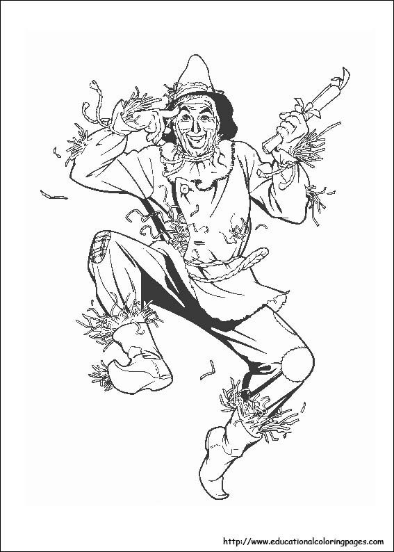 Lots of different wizard of oz coloring pages at this link