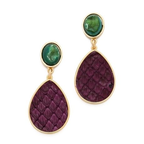 Alba Snake & Agate Earrings
