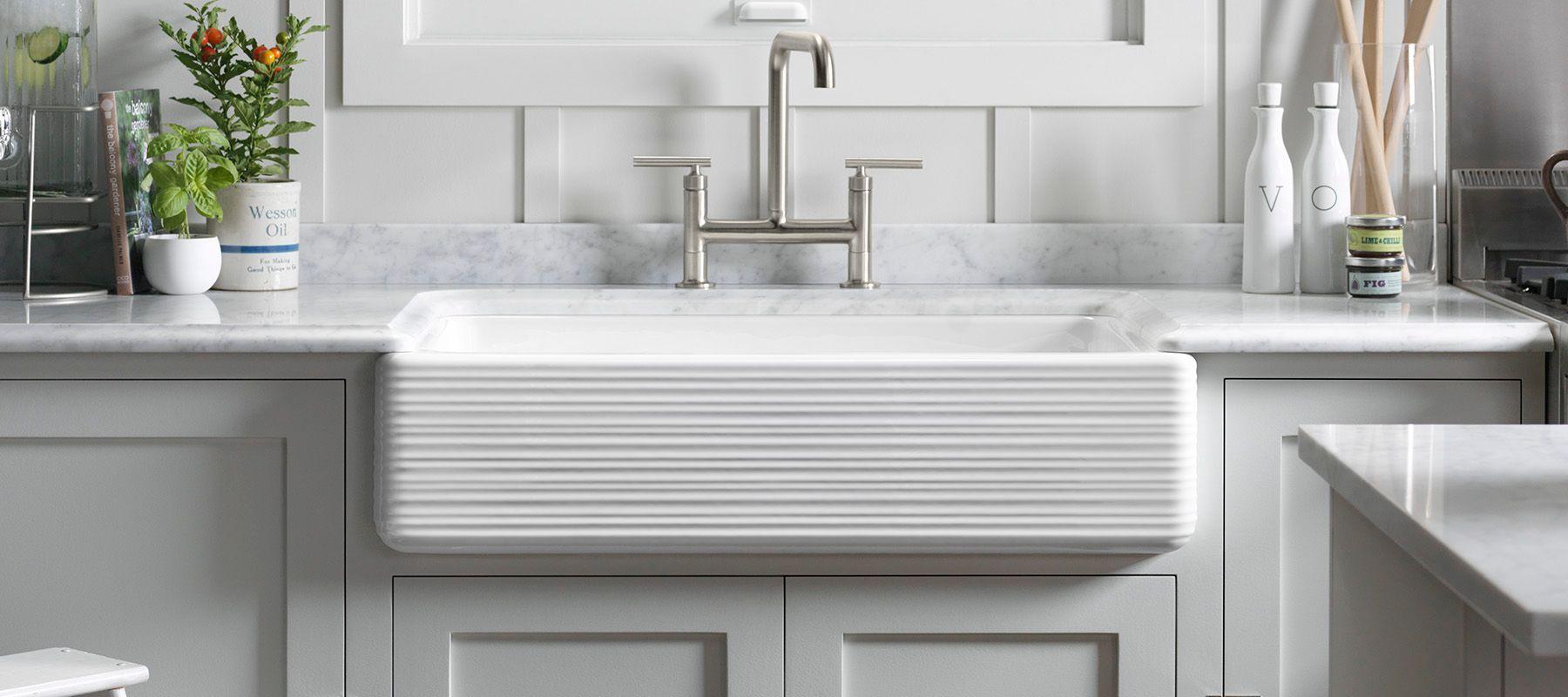 Number Of Basins 1 Fireclay KOHLER Enameled Cast Iron Kitchen Sinks |  Kitchen | KOHLER
