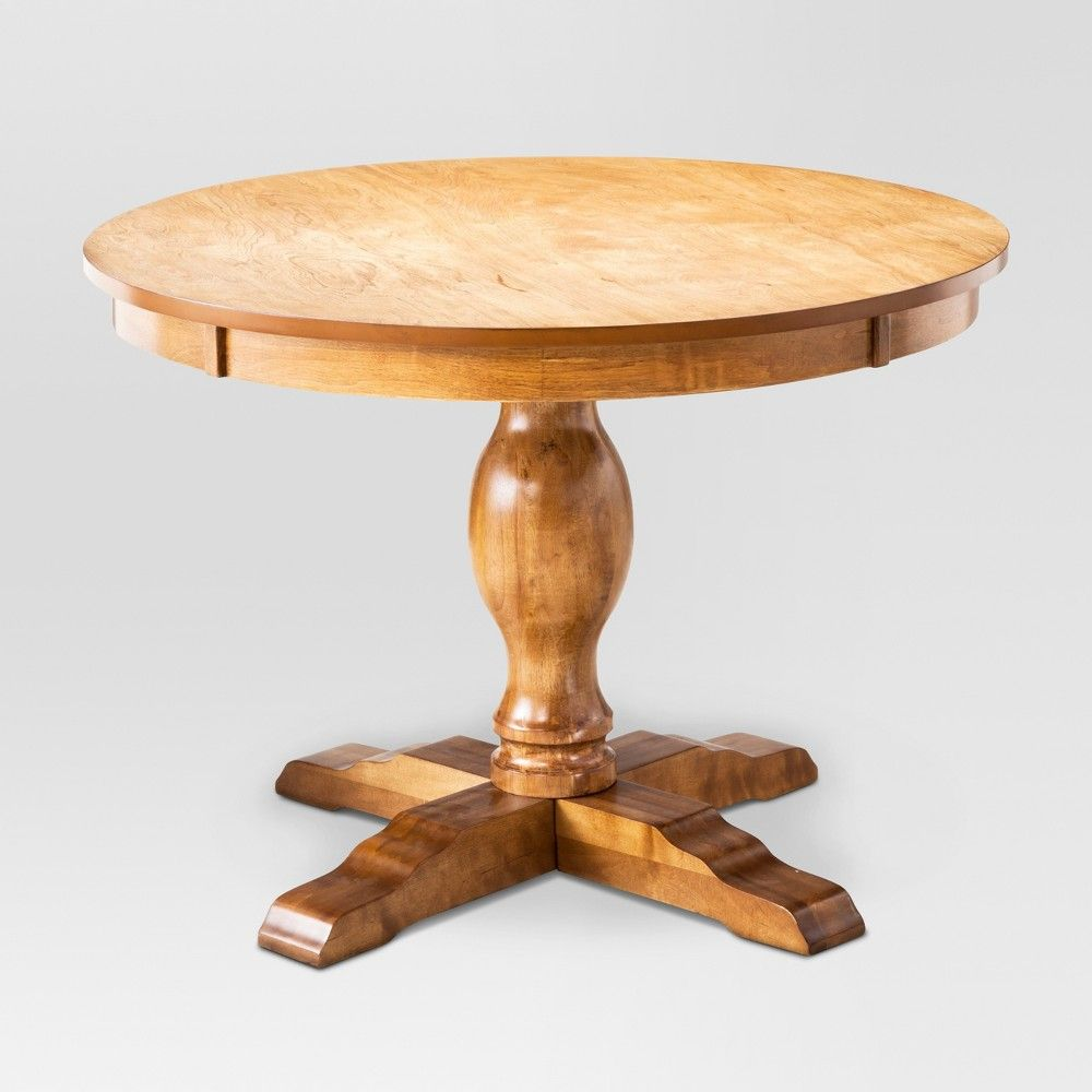 7864da2237d6 For beautiful antique style add this Round Pedestal Dining Table from  Threshold to your kitchen.