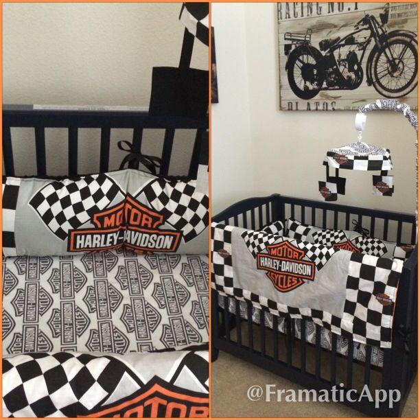 Harley Davidson Baby Bedding Mini Crib Motorcycle