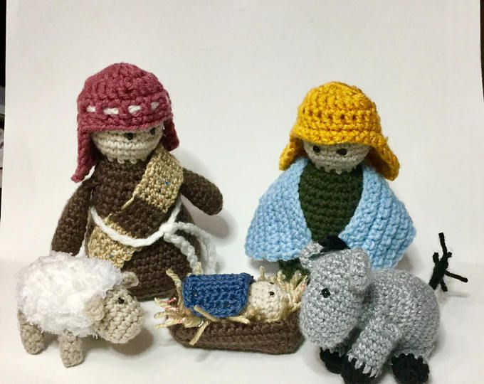 Crochet Nativity Play Set Pattern With Holy Family And Animals