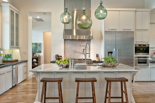 Luxurious Kitchen Design With Elegant Island At Cat Mountain Residence By Cornerstone Architect
