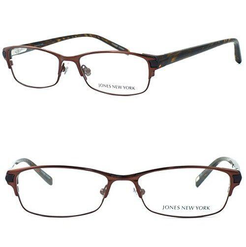 f8061bf4eab Jones New York Womens Lightweight   Comfortable Designer Reading Glasses  J463 in Brown 1.25
