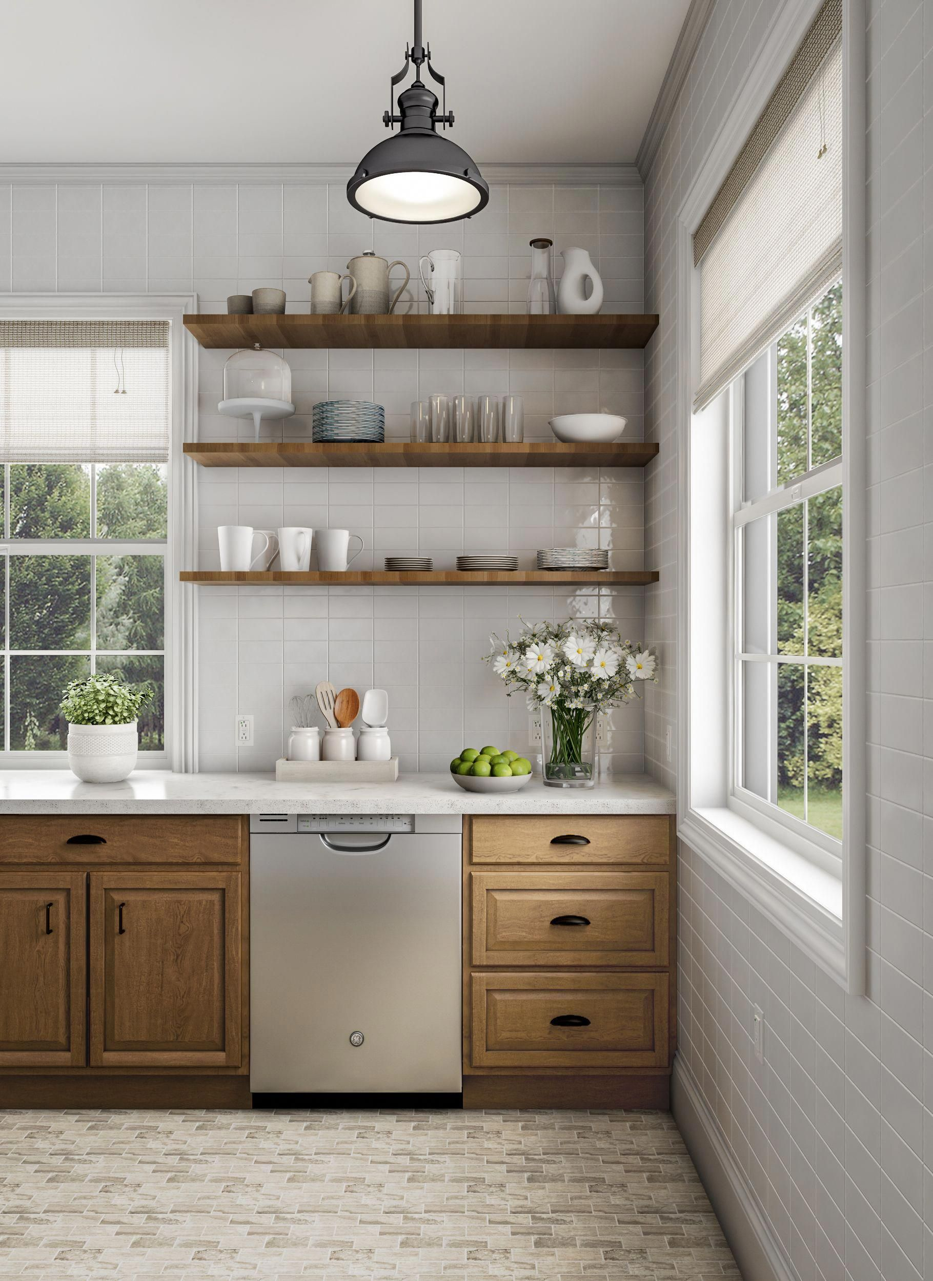 renovate your kitchen to farmhouse perfection white tile and warm rh pinterest com