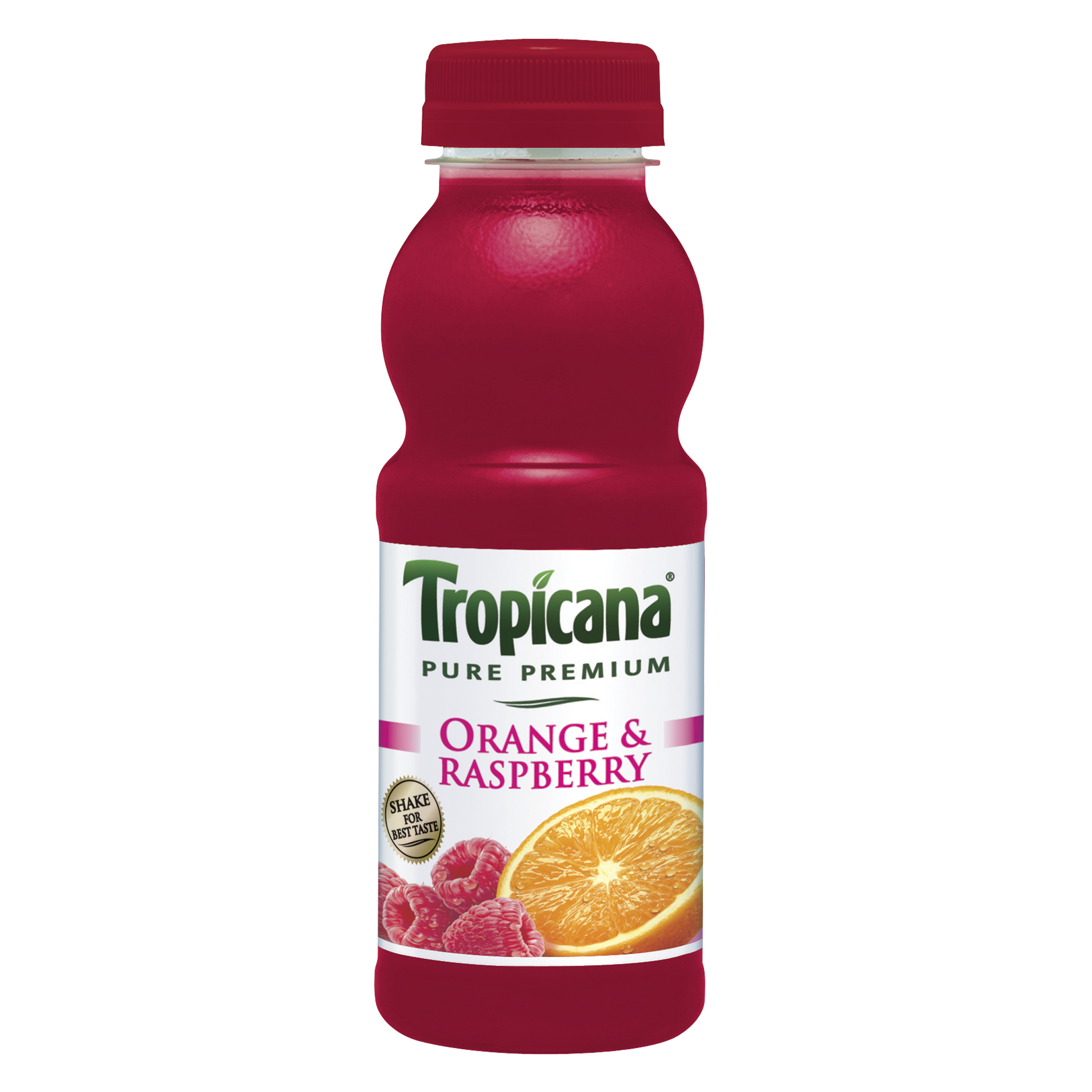 this orange and raspberry tropicana juice is perfect for blending