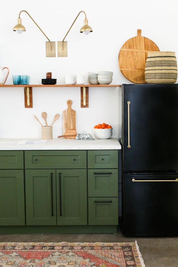 Studio Kitchen Reveal u0026 Cabinet Painting Tutorial