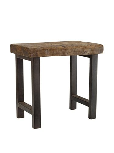 55 off classic home jaden iron leg end table natural iron for rh pinterest com