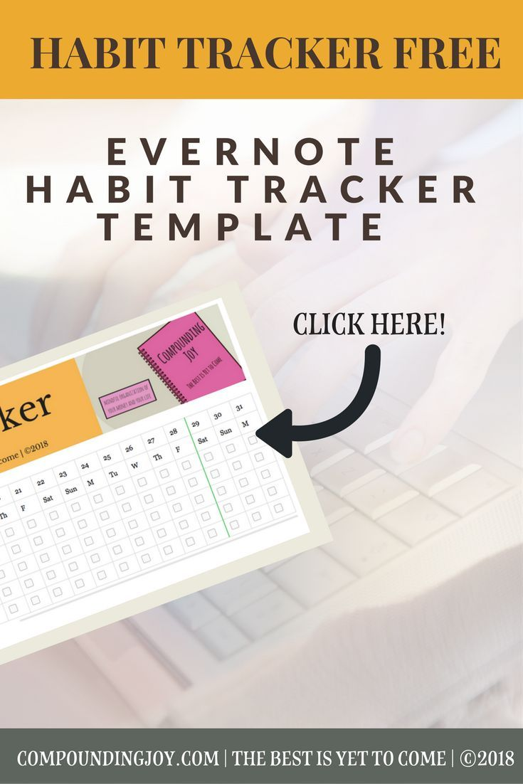 Habit Tracker Free Evernote Template Download Monthly Habit