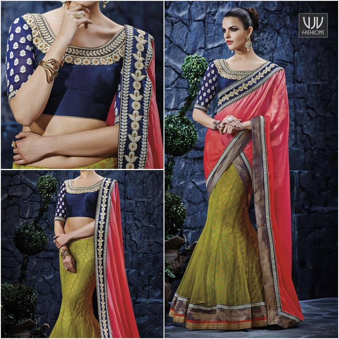 Modern readymade saree buy now  goonyta radiant green color lehenga party