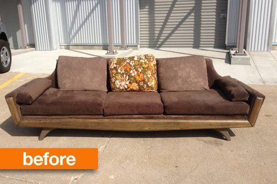 before after john s craigslist miracle diy couch apartment rh pinterest com