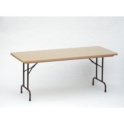Small Standard Plastic Folding Table Size 24 X 48 Color Gray