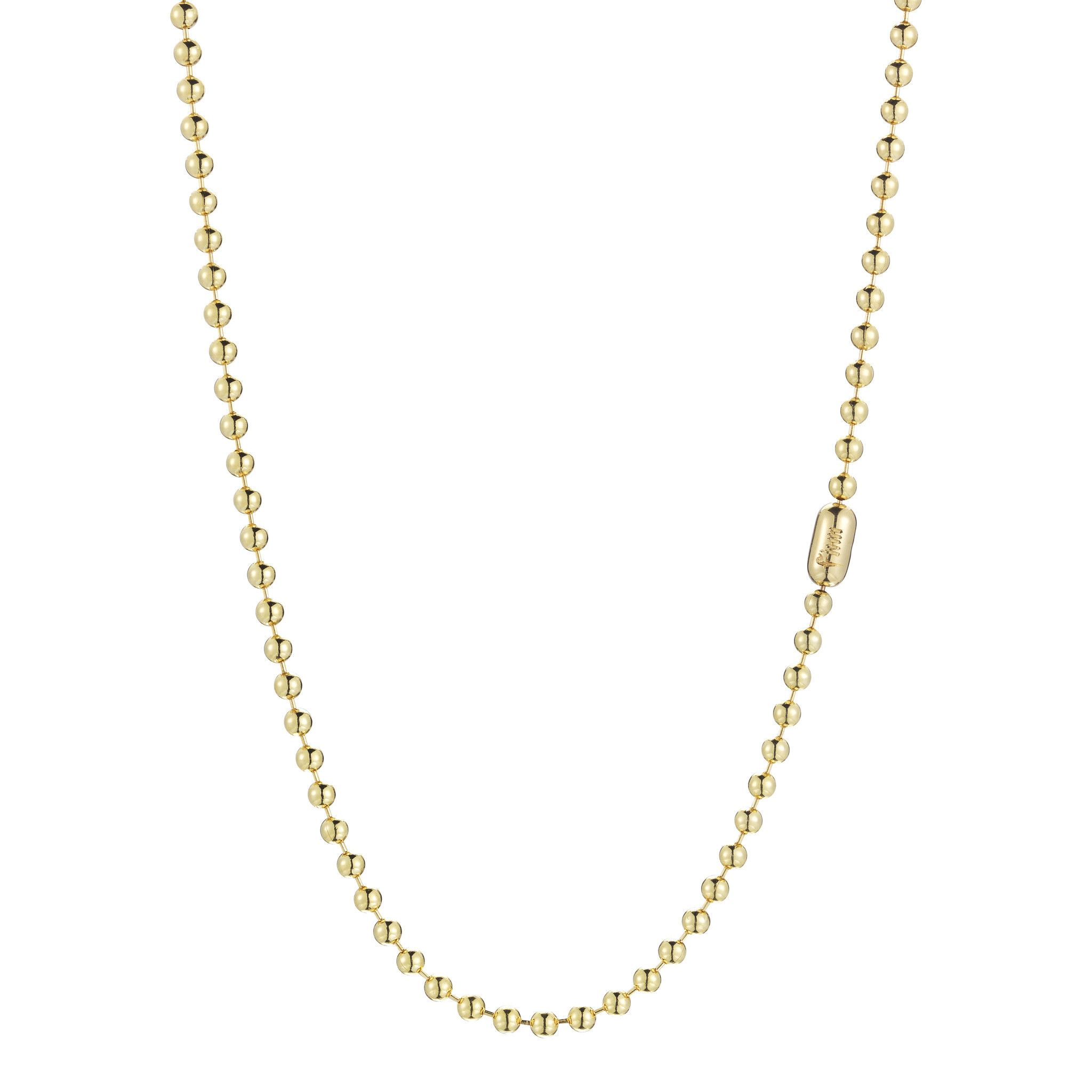 pav gold pave necklace ball chains diamond white