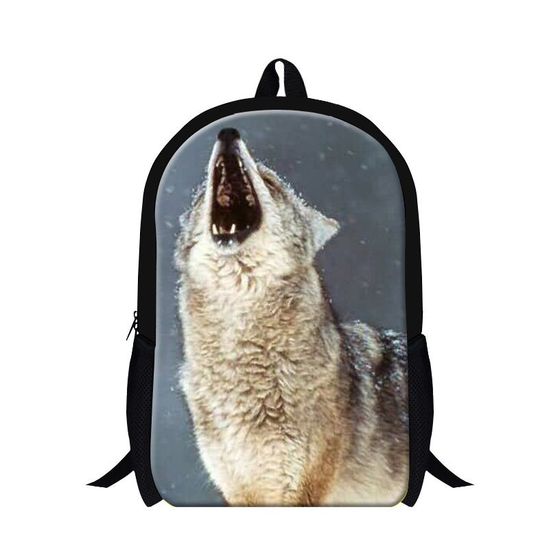 Cool Wolf 3D print middle school backpacks,fashion book bags for ...