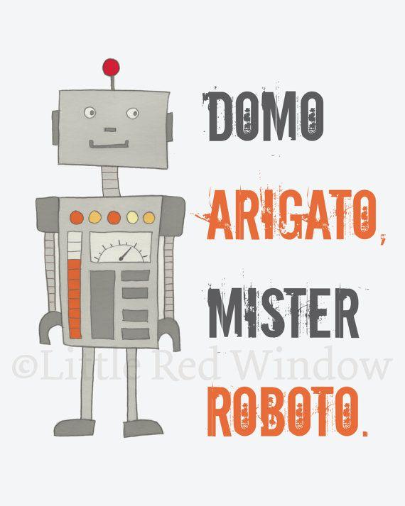 robot domo arigato printable print by littleredwindow diy ideas rh nz pinterest com