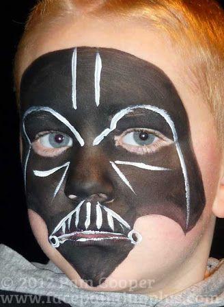 Darth vader face paint maquillage enfant maquillage halloween enfant maquillage halloween - Visage de dark vador ...