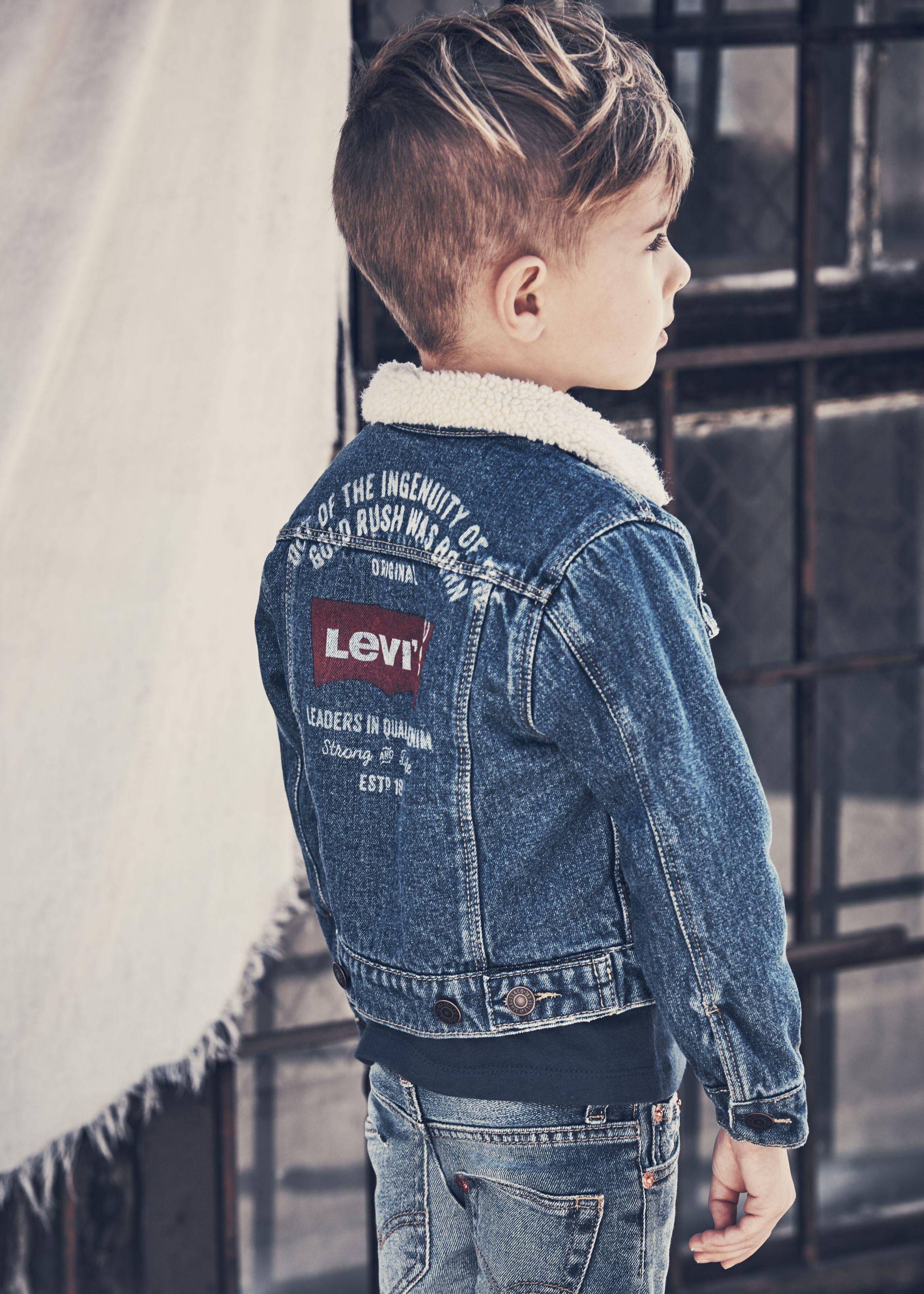 Shop Levi S Aw17 At Childrensalon Kids Denim Jacket Baby Boy Jackets Boys Denim Jacket [ 3205 x 2289 Pixel ]