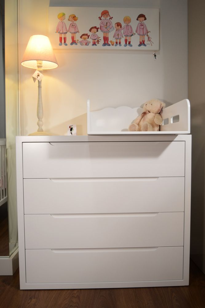 C moda con cambiador perfecta para tu beb el p jaro carpintero muebles auxiliares - Cambiador bebe para comoda ...