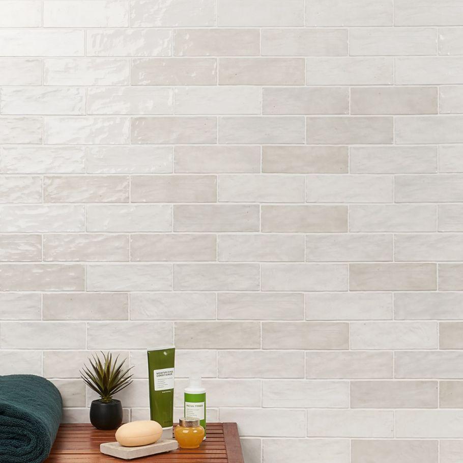 portmore white 3x8 glazed ceramic tile
