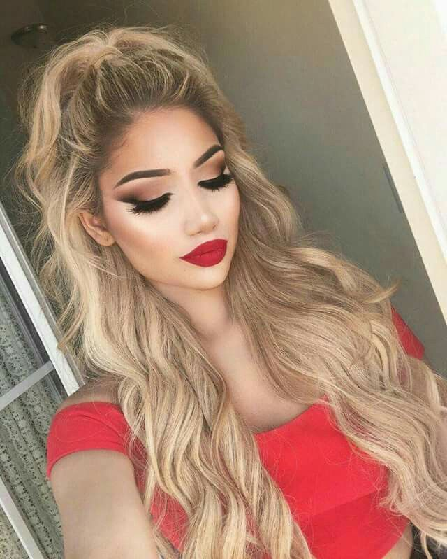@PoppyApparelLoves #poppyapparel PoppyApparel.com Makeup Red Lips, Makeup For Red Dress,