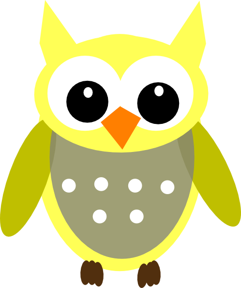 cute cartoon owls cute yellow gray owl clip art vector clip art rh pinterest com