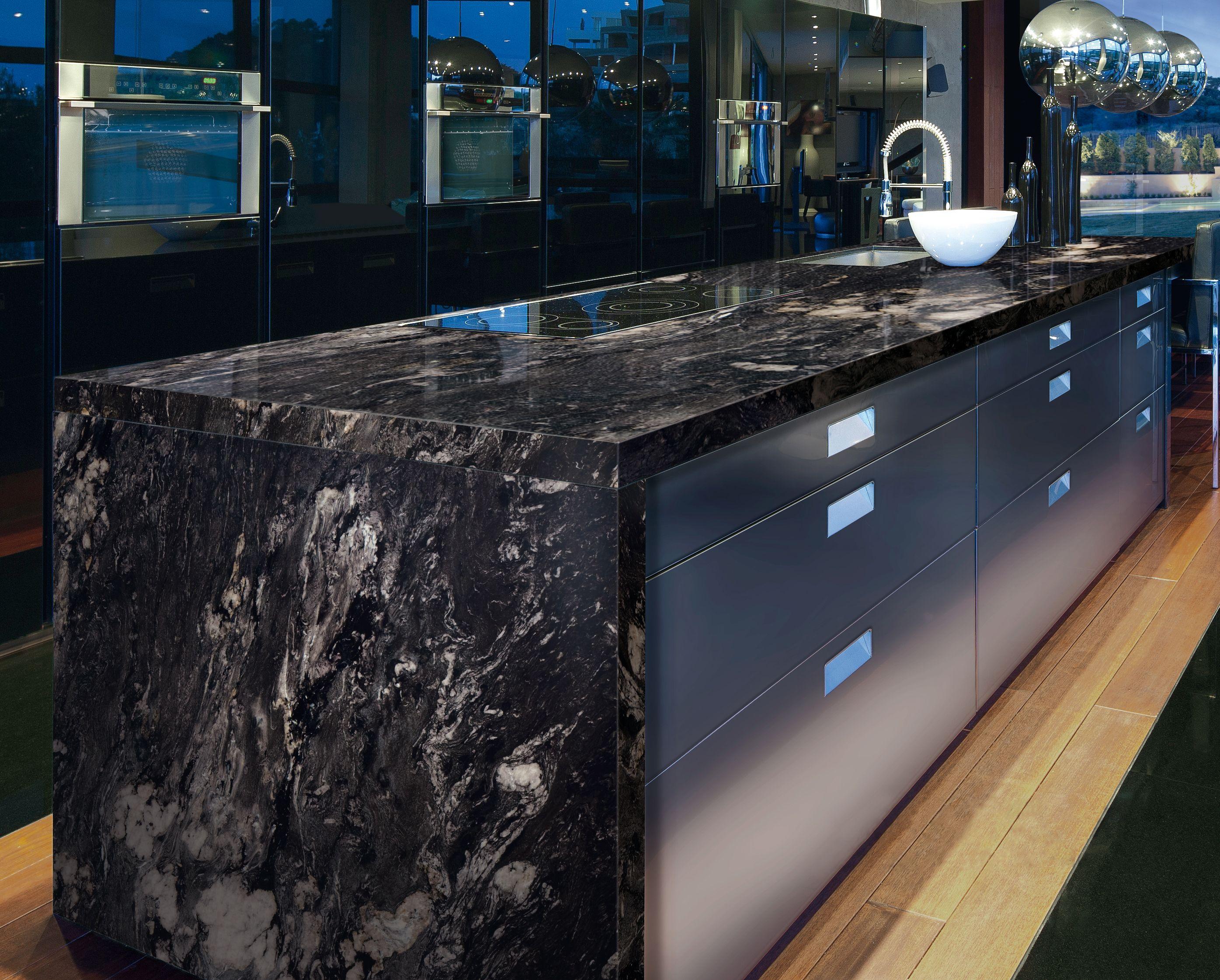 Titanium Granite Kitchen Counter | http://www.marmol.com/product ...