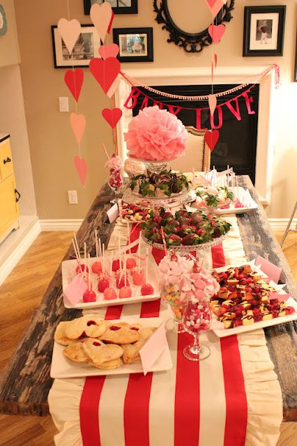 Cute Valentines Day Themed Baby Shower Love The Baby Love Banner
