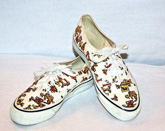 eda47c2a4a1b8 Vintage Tigger Vans | Winnie the Pooh | Vans sneakers, Sneakers ...