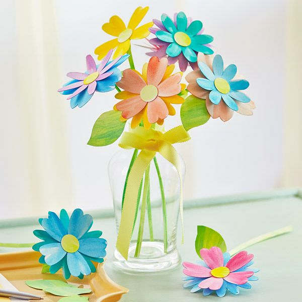Paper Flower Bouquet Paper Flowers Crafts Easy Paper Crafts