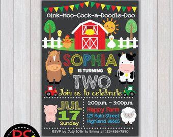 Farm Birthday Invitation Farm Birthday Party Invitation